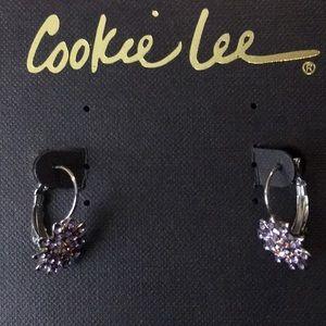 BNWT Cookie Lee Earrings - crystal details